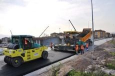 Asphalt - Road Works in the district of Korfez